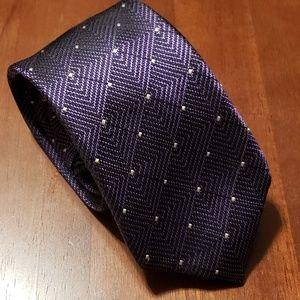 Vince Camuto Men's Tie Purple Geometric Necktie